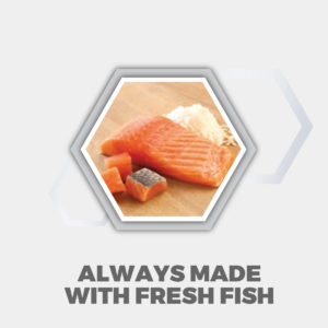 Always made with fresh fish